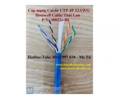 Cáp mạng LAN Cat.6e UTP 4P 23AWG (30022E-BL) - Hosiwell Cable/Thái Lan