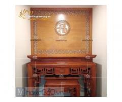 Mẫu bàn thờ gia tiên đẹp với đa dạng kiểu dáng độc đáo hiện đại