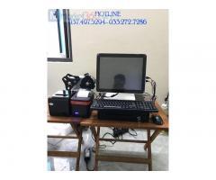 Trọn bộ máy tính tiền cảm ứng cho Quán nước mát- Rau má tại Bắc Giang