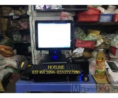 Máy tính tiền trọn bộ bằng mã vạch cho Cửa hàng Tạp hóa ở Ninh Thuận