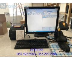 Trọn bộ máy tính tiền bằng mã vạch cho Shop Mỹ phẩm tại Thanh Hóa