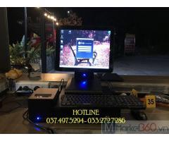 Máy tính tiền cảm ứng trọn bộ cho quán Trà sữa- Coffee tại Hà Giang