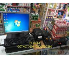 Trọn bộ máy tính tiền bằng mã vạch cho Cửa hàng Tạp hóa tại Trà Vinh