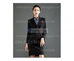 Nhận may áo vest nữ văn phòng form đẹp, chất liệu cao cấp, kiểu dáng sang trọng