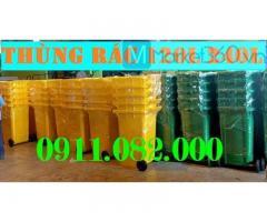 Thùng rác 120 lít y tế màu vàng giá rẻ tại cần thơ- Nhiên