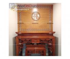 Mẫu bàn thờ gia tiên đẹp với thiết kế chạm trổ độc đáo