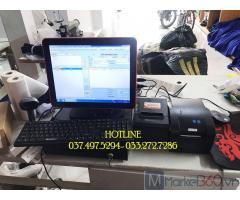 Combo máy tính tiền cảm ứng cho Shop quần áo tại Hà Giang
