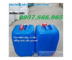 Can nhựa chất lượng cao, can nhựa dày, can nhựa đựng hóa chất, can nhựa HDPE