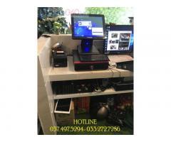 Trọn bộ máy tính tiền cảm ứng cho quán Trà sữa- Coffee ở Lâm Đồng