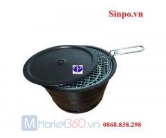 Bếp nướng than hoa âm bàn vỏ sắt BN 04