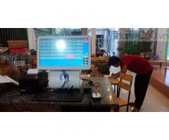 Lắp máy tính tiền cảm ứng trọn bộ cho quán Trà sữa tại Hà Giang