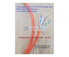 30022-OR-LSZH - Cáp mạng kháng cháy Hosiwell Cat.6 UTP LSZH 4P 23AWG, 305m/cuộn