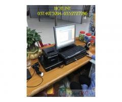 Lắp đặt bộ máy tính tiền bằng mã vạch cho Siêu thị tiện lợi- Tạp hóa ở Hà Tĩnh