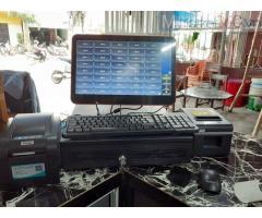 Trọn bộ máy tính tiền cảm ứng 1 màn hình cho quán Trà chanh tại Hà Giang