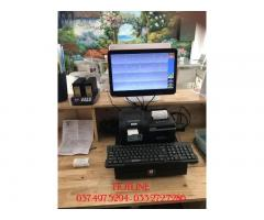 Máy tính tiền cảm ứng trọn bộ 2 màn hình cho Quán Cà phê- Trà sữa tại Long An