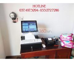 Combo máy tính tiền bằng mã vạch cho Cửa hàng sữa- Tạp hóa tại Bắc Ninh
