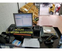 Bộ máy tính tiền bằng mã vạch cho cửa hàng thực phẩm tại Bình Phước
