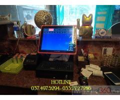 Bộ máy tính tiền cảm ứng cho quán KARAOKE- MASSAGE tại Thanh Hóa