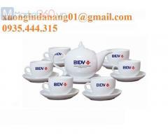 Bộ ấm tách trà in logo giá rẻ ở đà nẵng
