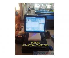 Bộ máy tính tiền cảm ứng cho quán Bida- Cà phê tại Trà Vinh