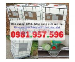Bồn nhựa vuông 1000L, bồn nhựa trắng 1000L, bồn nhựa có van xả