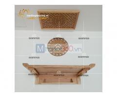 Mẫu bàn thờ treo tường hiện đại với nhiều kiểu dáng độc đáo