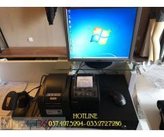 Máy tính tiền trọn bộ bằng mã vạch cho Shop quần áo tại Hà Tĩnh