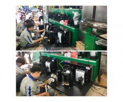 Lên cụm máy nén hoàn chỉnh Copeland 5hp CRNQ-0500 tại công ty AN KHANG