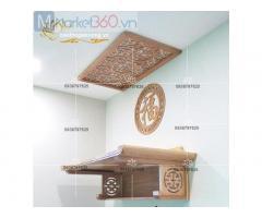 Mẫu bàn thờ treo tường đẹp với đa dạng thiết kế độc đáo