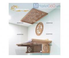 Mẫu bàn thờ treo tường đẹp với thiết kế độc đáo hiện đại