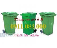 Thùng rác nhựa chuyên sỉ giá rẻ- Thùng rác 120 lít 240 lít 660 lít-
