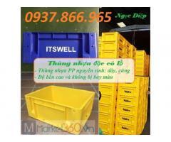 Thùng nhựa công nghiệp, thùng nhựa đặc có lỗ, thùng nhựa BL001