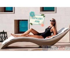 Ghế hồ bơi composite fiberglass, ghế nằm tắm nắng ngoài trời