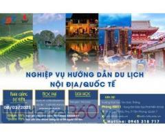 """Thông báo chiêu sinh khóa học """"Nghiệp vụ hướng dẫn du lịch nội địa/quốc tế"""" tháng 3/2021"""
