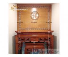 Mẫu bàn thờ gia tiên đẹp với thiết kế hiện đại độc đáo