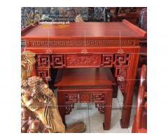Mẫu bàn thờ gia tiên đẹp với đa dạng thiết kế chạm trổ tinh xảo
