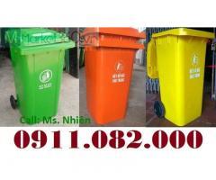 Xả kho thùng rác 240 lít giá rẻ tại an giang, thùng rác mới 100%-
