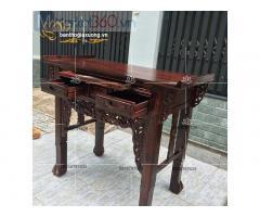 Mẫu bàn thờ gia tiên đẹp hiện đại với thiết kế họa tiết độc đáo