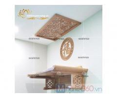 Bàn thờ treo tường hiện đại với thiết kế đơn giản độc đáo