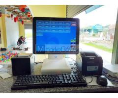 Combo máy tính tiền cảm ứng cho quán Trà chanh tại Hòa Bình