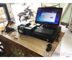 Bán máy tính tiền cảm ứng trọn bộ cho tiệm bánh Kem tại Cà Mau