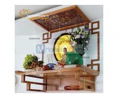 Bàn thờ treo tường hiện đại với thiết kế đẹp đơn giản độc đáo