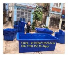 Thùng nhựa lớn nuôi cá 2000lit/750lit/1100lit giá sỉ toàn quốc