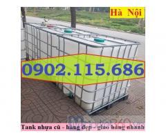 Tank IBC cũ giá rẻ, bồn nhựa 1000l cũ giá rẻ, bồn đựng hóa chất giá rẻ, thùng đựng hóa chất 1000l giá rẻ,