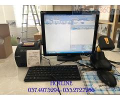 Bán trọn bộ máy tính tiền bằng mã vạch cho Shop Mỹ phẩm tại Cà Mau