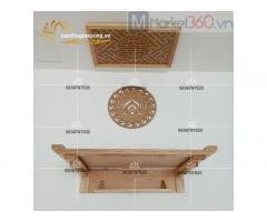 Mẫu bàn thờ treo tường hiện đại với thiết kế đơn giản đẹp mắt