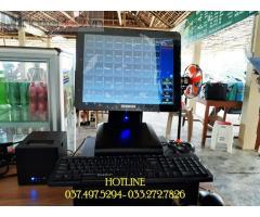 Lắp đặt trọn bộ máy tính tiền cảm ứng cho Quán ăn- Nhà hàng tại Hà Tĩnh