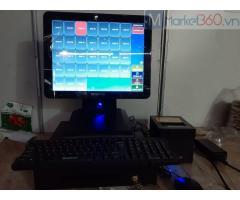 Chuyên bán trọn bộ máy tính tiền cảm ứng cho Quán ăn vặt ở Long An