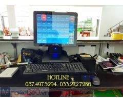 Bán trọn bộ máy tính tiền cảm ứng cho Nhà hàng hải sản tại Hà Tĩnh