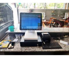 Chuyên máy tính tiền cảm ứng cho Quán Cà phê- Trà sữa tại Thái Nguyên